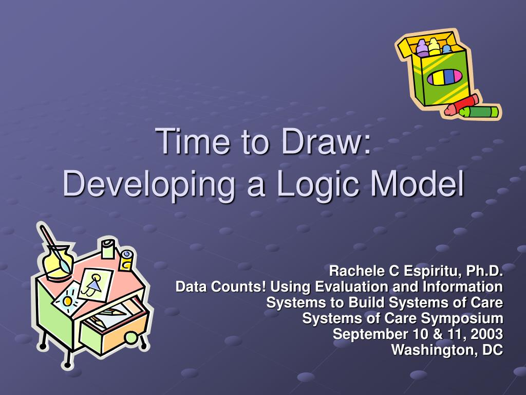 time to draw developing a logic model l.