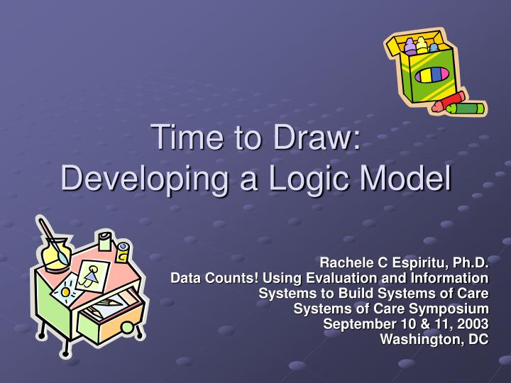 Time to draw developing a logic model