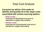 total cost analysis