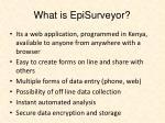 what is episurveyor
