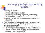 learning cycle supported by study groups