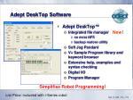 adept desktop software