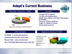 adept s current business