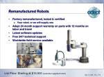 remanufactured robots
