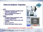 vision for guidance inspection