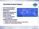 world wide customer support
