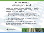 railroad security countermeasures include