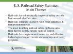 u s railroad safety statistics main themes