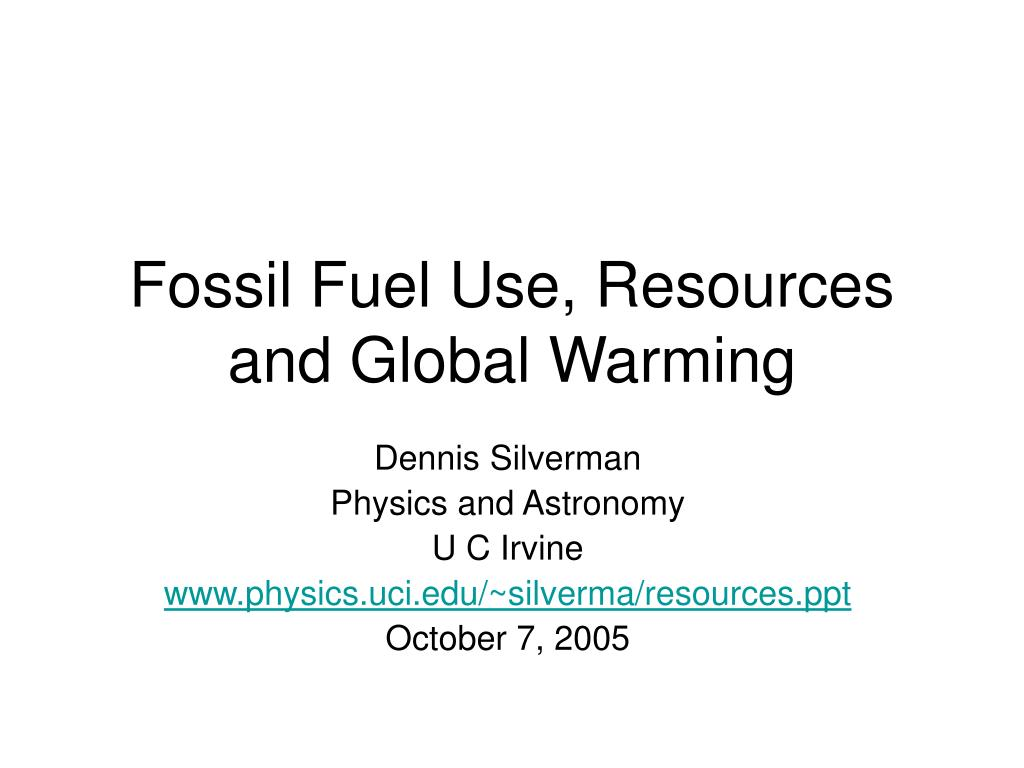 fossil fuel use resources and global warming l.