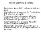 global warming scenario