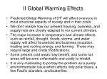 ii global warming effects