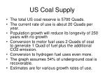 us coal supply