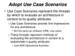 adopt use case scenarios