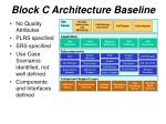 block c architecture baseline