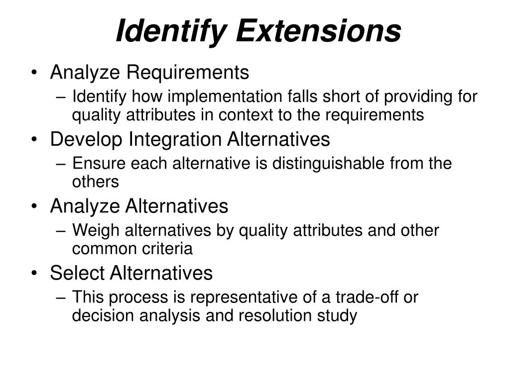 Identify Extensions