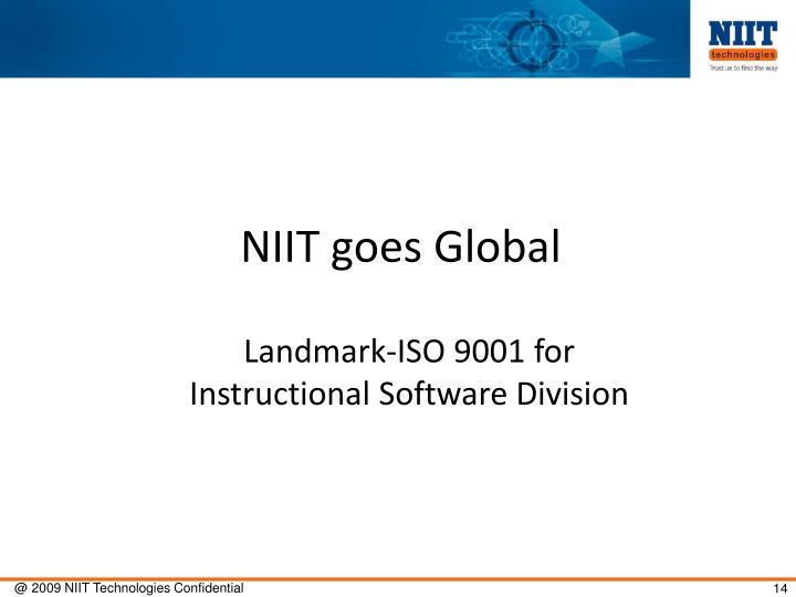 NIIT goes Global