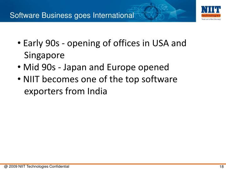 Software Business goes International