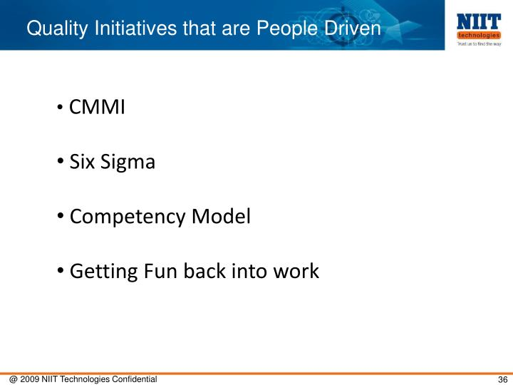 Quality Initiatives that are People Driven