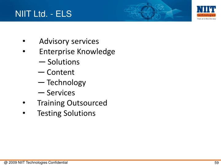 NIIT Ltd. - ELS
