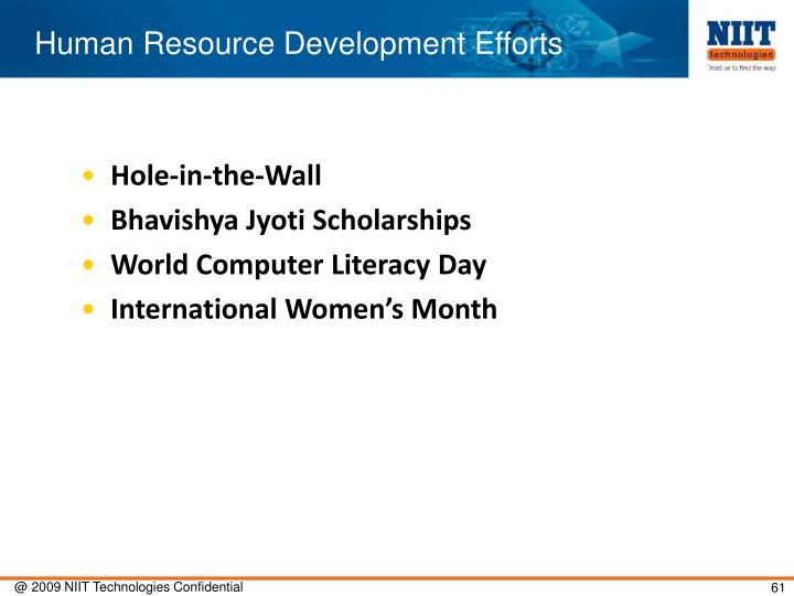 Human Resource Development Efforts