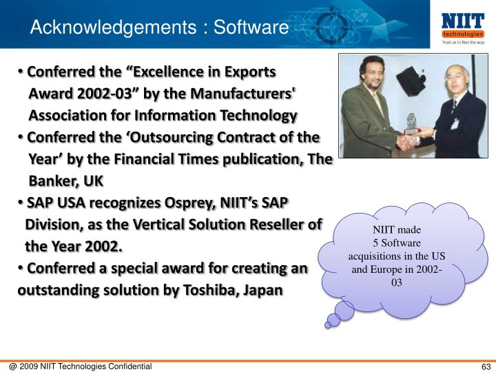 Acknowledgements : Software