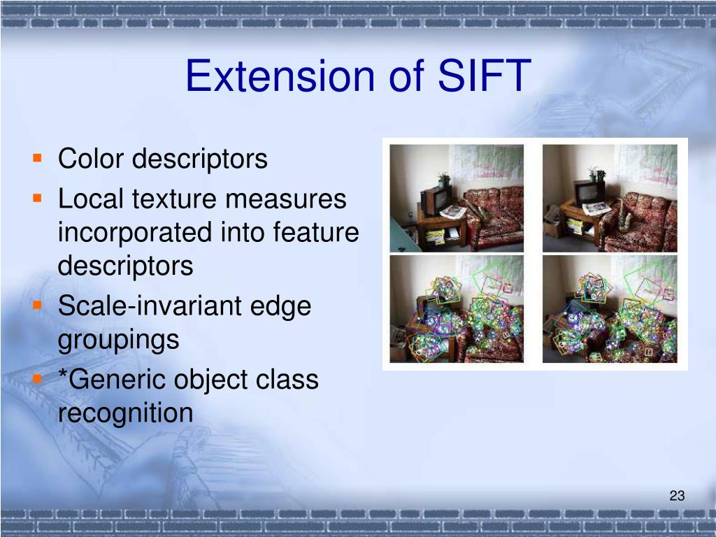 Extension of SIFT