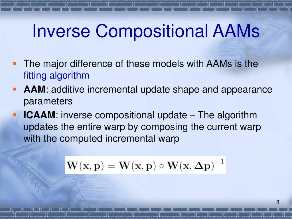 Inverse Compositional AAMs