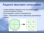 keypoint descriptor computation