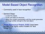 model based object recognition