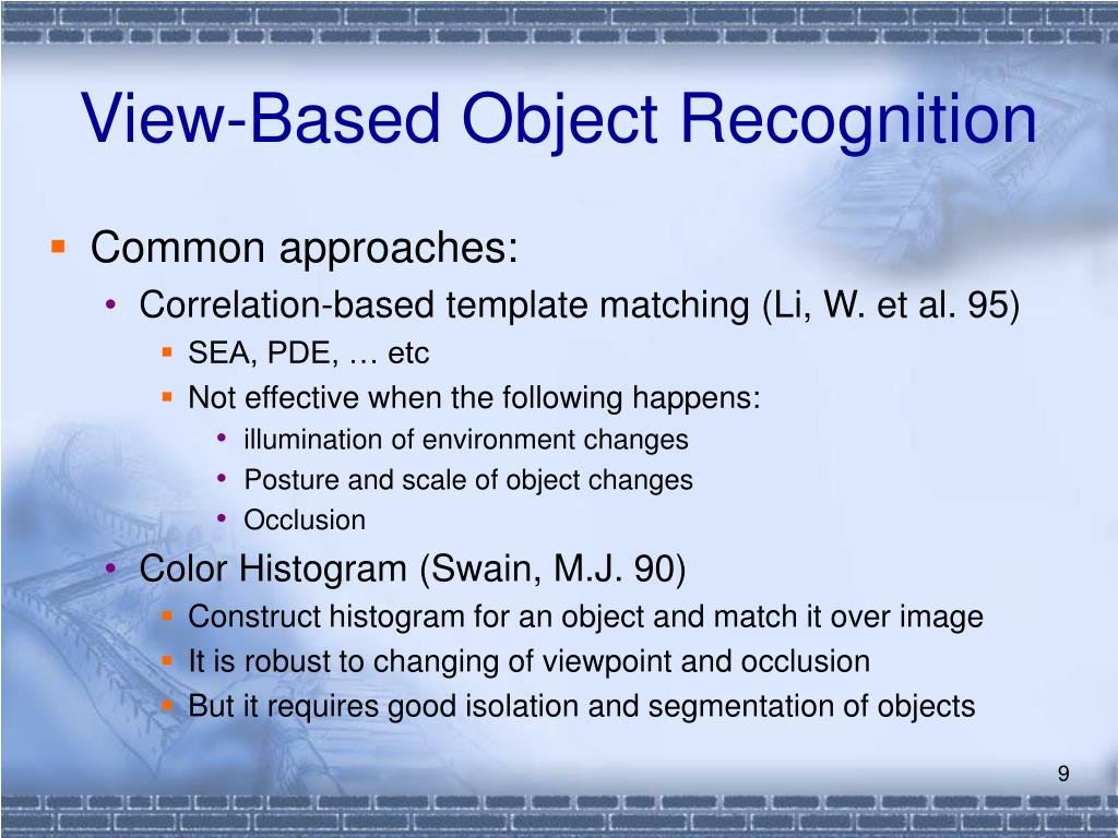 View-Based Object Recognition