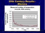 20th century results maxima