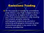 emissions trading
