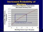 increased probability of maxima
