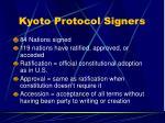 kyoto protocol signers