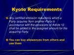 kyoto requirements39