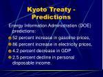 kyoto treaty predictions