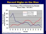 record highs on the rise