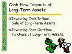 cash flow impacts of long term assets