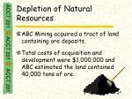 depletion of natural resources25