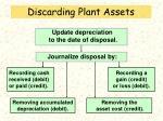 discarding plant assets