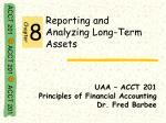 reporting and analyzing long term assets