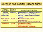revenue and capital expenditures5