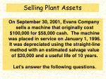 selling plant assets