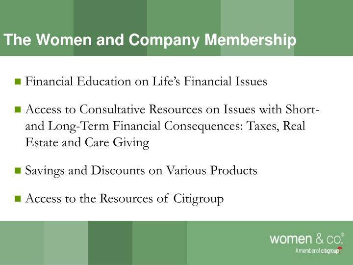 The Women and Company Membership