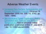 adverse weather events