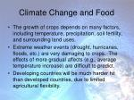 climate change and food