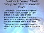 relationship between climate change and other environmental issues