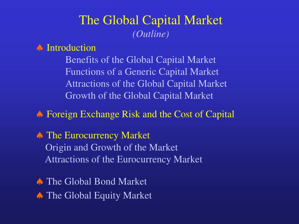 what are global capital markets