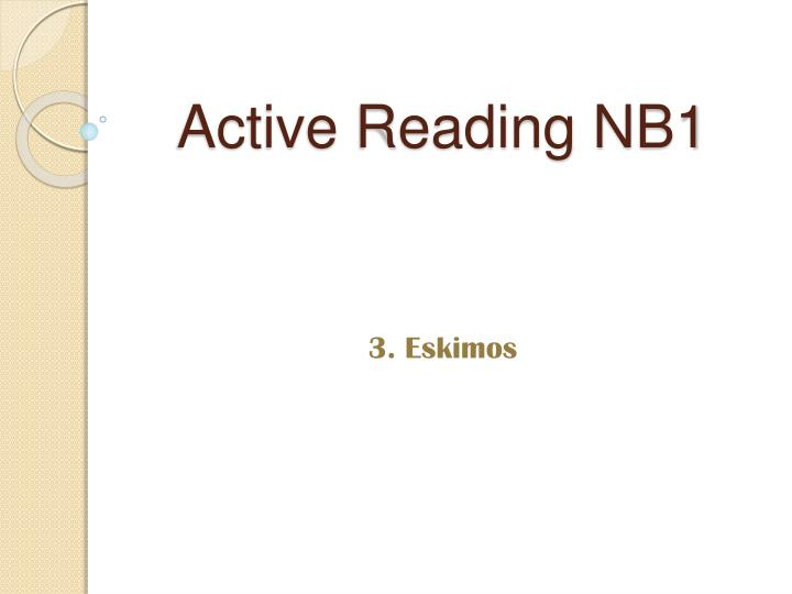 active reading nb1 n.