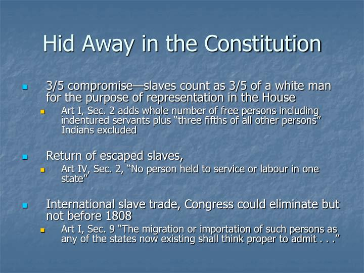 Hid away in the constitution